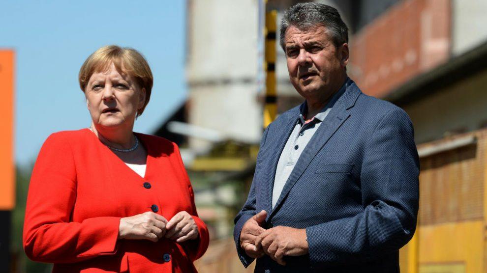 Angela Merkel y Sigmar Gabriel