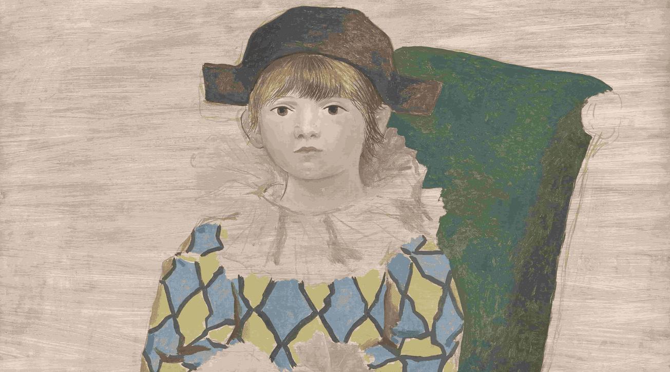 Paulo vestido de arlequín, 1924. Musée national Picasso-Paris. ©RMN-Grand Palais / Adrien Didierjean. © Sucesión Pablo Picasso, VEGAP: Madrid, 2019.