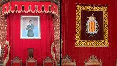 El retrato del Rey Felipe VI que ha sido retirado por el nuevo alcalde de ERC en Tarragona.