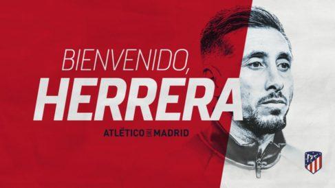 El Atlético de Madrid anuncia el fichaje de Héctor Herrera. (atleticodemadrid.com)