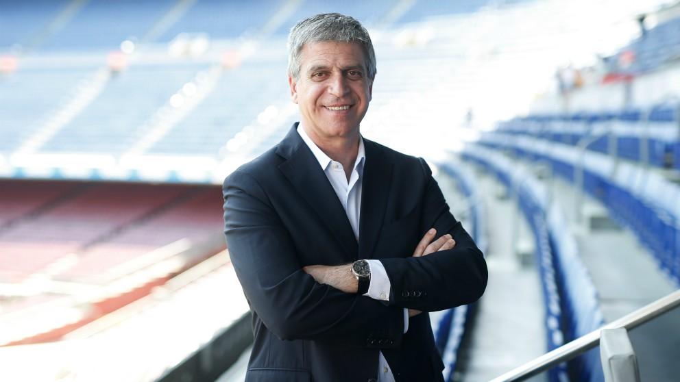 Jordi Mestre, en el Camp Nou. (Getty)