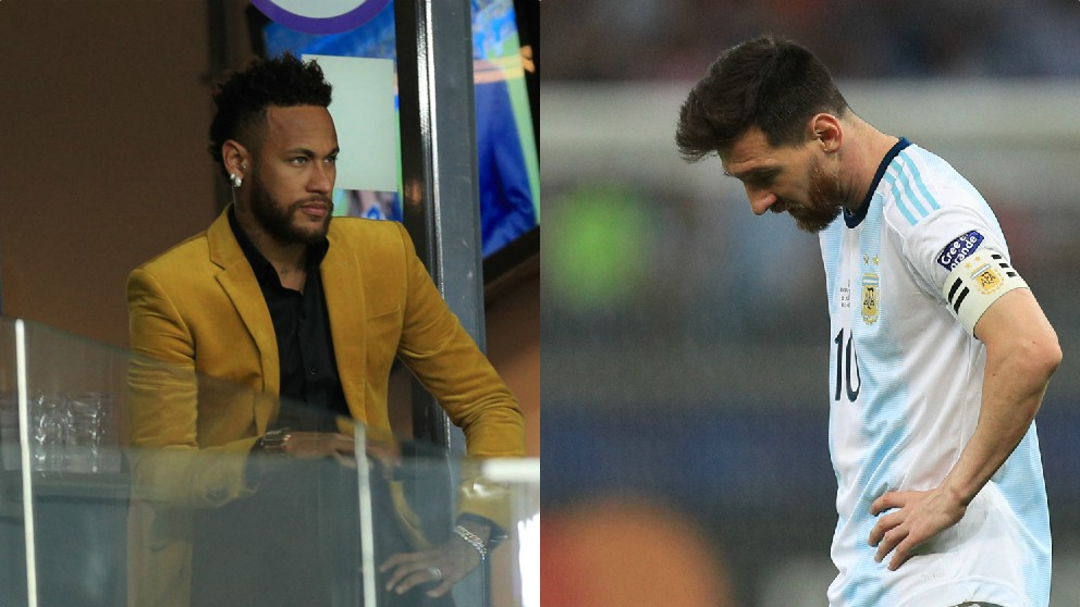 Neymar y Leo Messi.