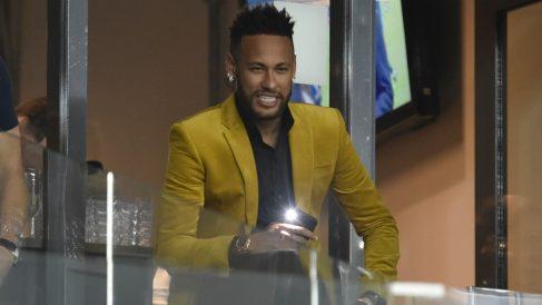 Neymar durante el Brasil – Argentina de la Copa América 2019. (AFP)