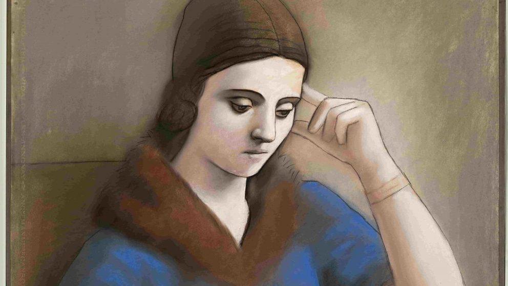 Olga pensativa, 1923. Musée national Picasso-Paris. © RMN-Grand Palais / Mathieu Rabeau © Sucesión Pablo Picasso, VEGAP: Madrid, 2019.