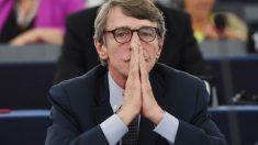 El socialista italiano David-Maria Sassoli, presidente del Parlamento Europeo. Foto: AFP
