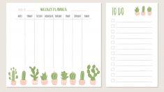 Planificador semanal niños