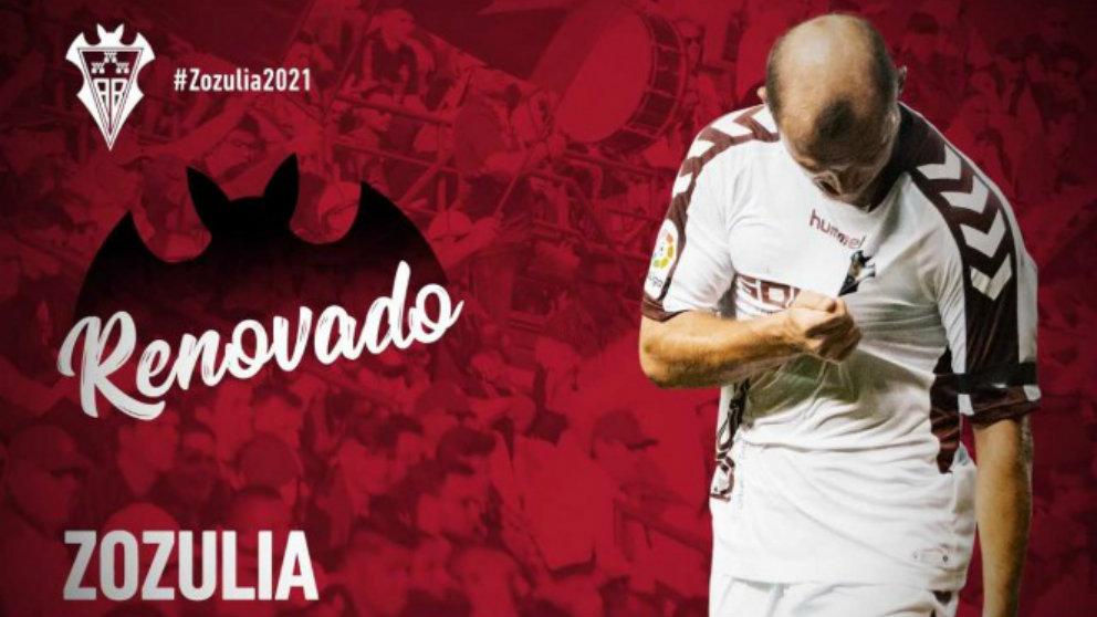 Roman Zozulia renueva con el Albacete (Albacete Balompié)