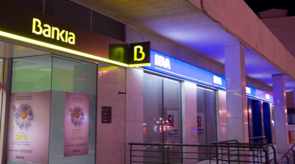 Oficinas de Bankia y BBVA