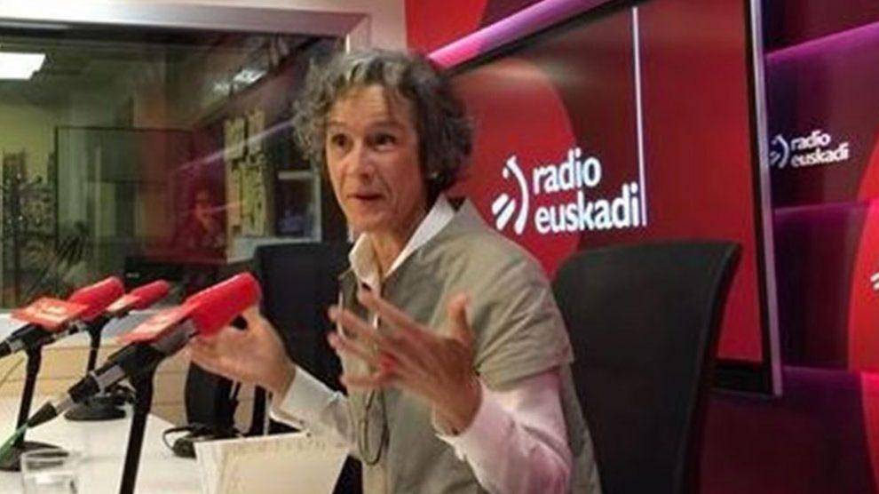 La portavoz de Covite en Euskadi, Ana Aizpiri, en una entrevista en Radio Euskadi. Foto: EP