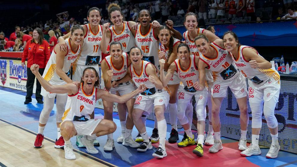 España celebra una victoria. (Europa Press)