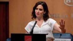 Isabel Díaz Ayuso en la Asamblea de Madrid. (Foto. PP)