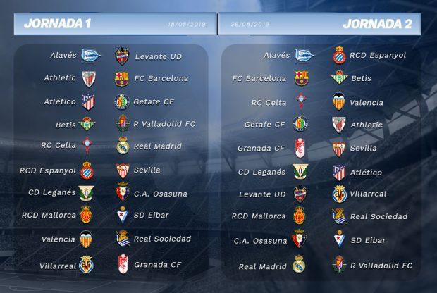 Calendario La Liga 2019.Consulta El Calendario Completo De La Liga Santander 2019 20