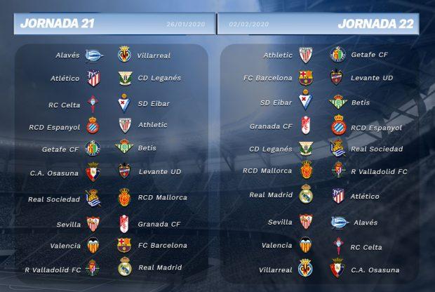 Sorteo Calendario Liga 2020.Consulta El Calendario Completo De La Liga Santander 2019 20