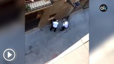 Agresión a un vigilante de seguridad en Barcelona.