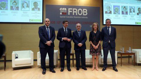 Almunjia, junto a Uría (KPMG), Goirigolzarri (Bankia), Delgado (BdE) y Fernández de Mesa (Rothschild&Co)