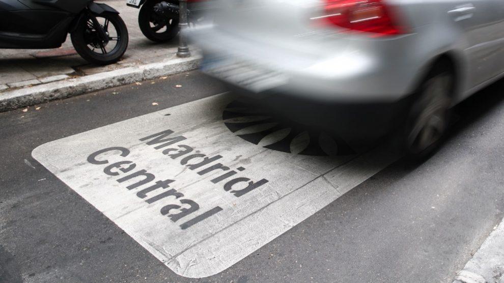 Entrada de Madrid Central. (Foto. Europa Press)