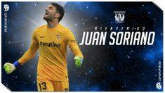 Juan Soriano, nuevo fichaje del Leganés (Club Deportivo Leganés)