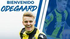 Martin Odegaard se marcha cedido a la Real Sociedad. (realsociedad.eus)