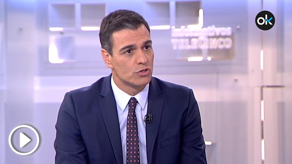 Pedro Sánchez exige a PP y Ciudadanos faciliten su investidura durante su entrevista a los informativos de Telecinco
