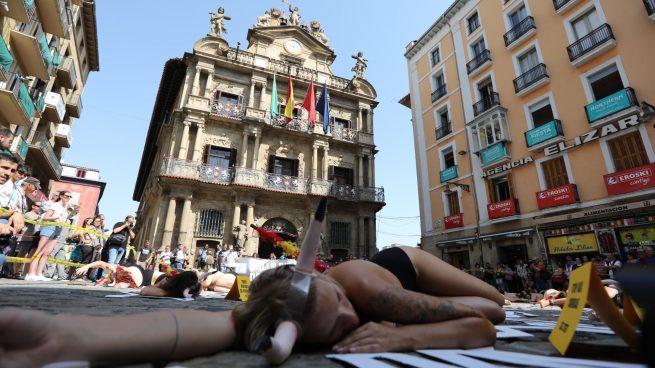 Performance de PETA en Pamplona @EP-min