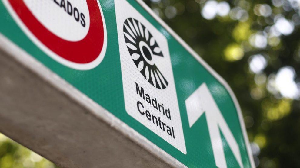 Señal de Madrid Central. (Foto. Europa Press)