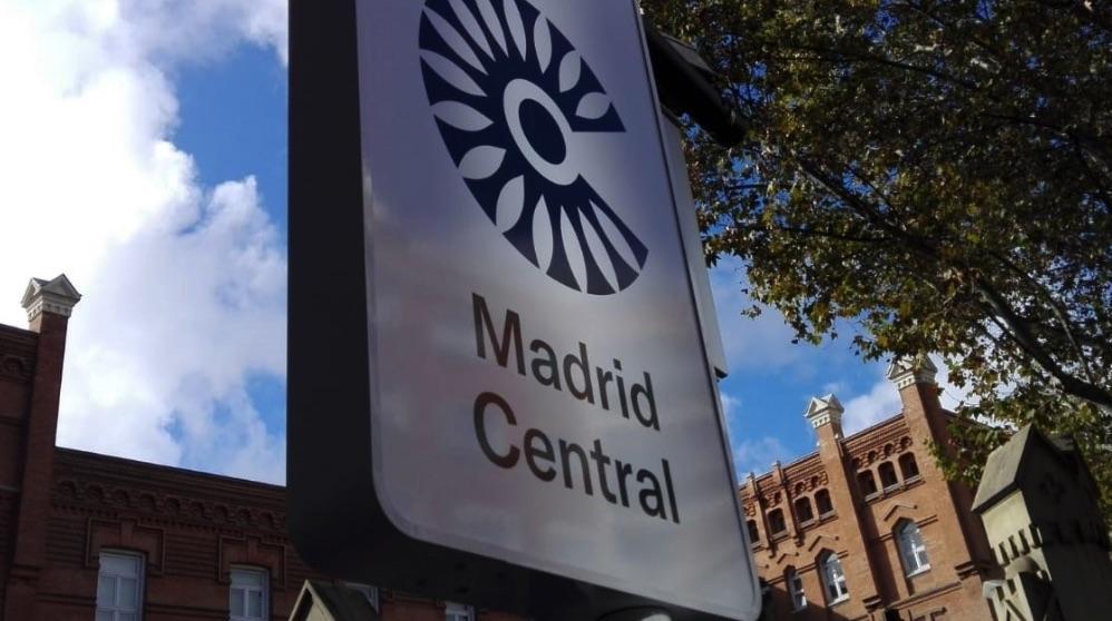 Señal vertical de Madrid Central. (Foto. Europa Press)