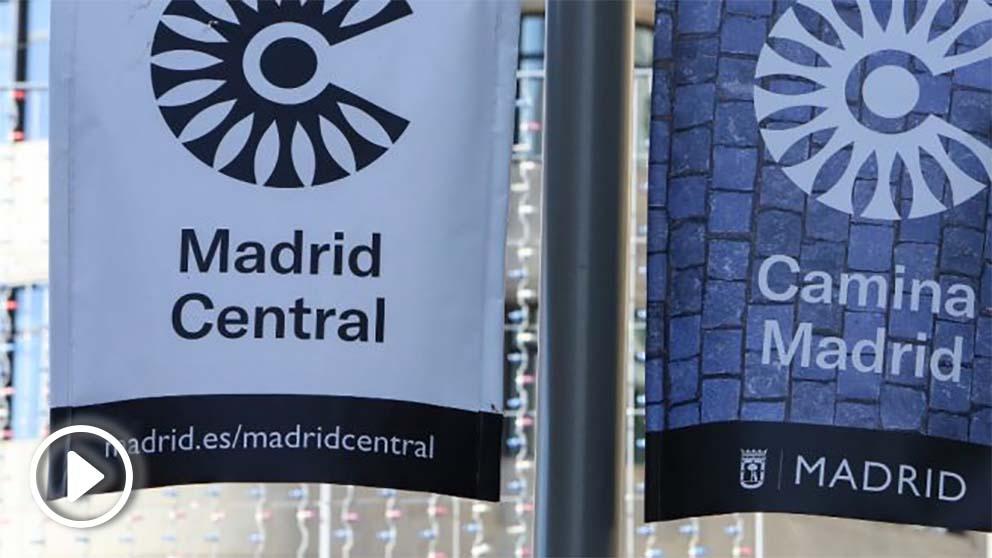 Banderolas de Madrid Central. (Foto. Europa Press)