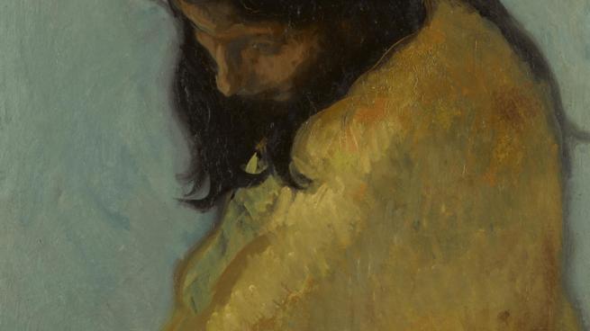 Detalle de 'Consuelo' (Óleo sobre tabla) de Isidro Nonell @Sotheby's
