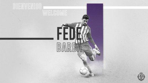 Fede Barba, nuevo fichaje del Valladolid (Real Valladolid)