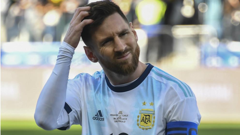 Leo Messi volvió a atacar a la Conmebol. (AFP)