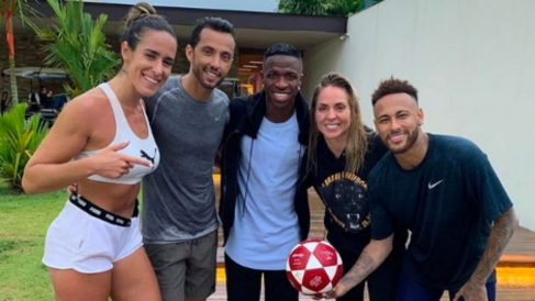 Neymar y Vinicius, juntos en Brasil. (Instagram)