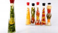 Botellas decorativas para la cocina