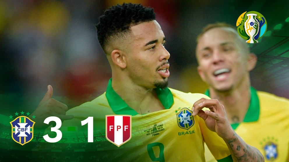 Brasil se impone a Perú en la final de la Copa América 2019.