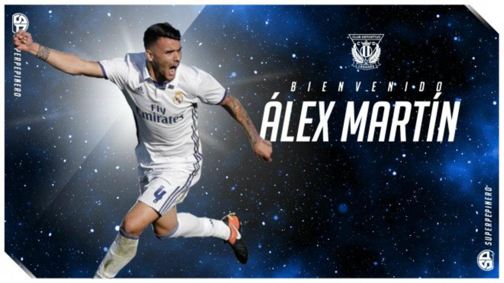 Álex Martín, nuevo fichaje del Leganés (Club Deportivo Leganés)