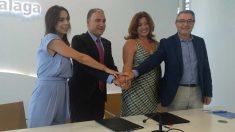Representantes del PP y C's en Málaga. Foto: Europa Press