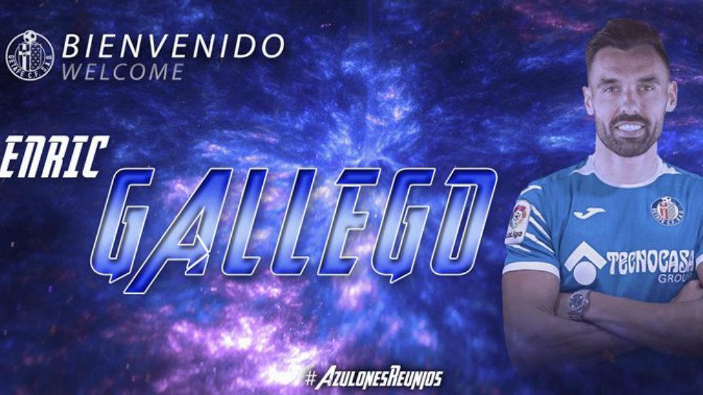 Enric Gallego, nuevo fichaje del getafe (Getafe Club de Fútbol)
