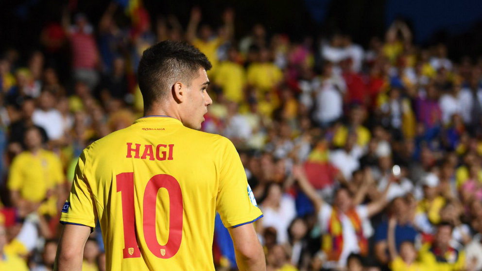 Ianis Hagi con Rumanía (@IanisHagi10)