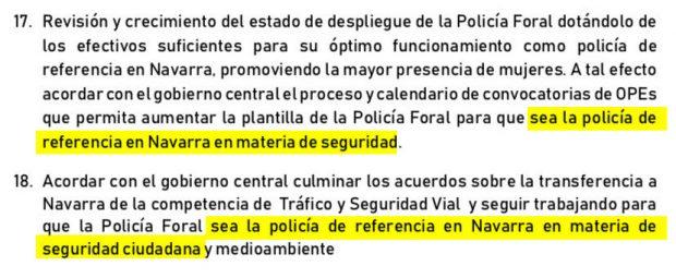 El acuerdo PSN-Geroa Bai-Podemos-Ezkerra en Navarra