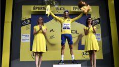 Julian Alaphilippe, líder de la clasificación de general del Tour de Francia. (AFP)