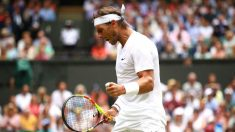 Rafa Nadal celebra un punto ante Joao Sousa. (Getty)