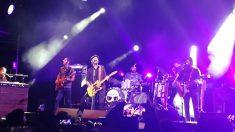 El grupo de música Sidecars durante su concierto solidario en la Ciudad de la Raqueta de Madrid.