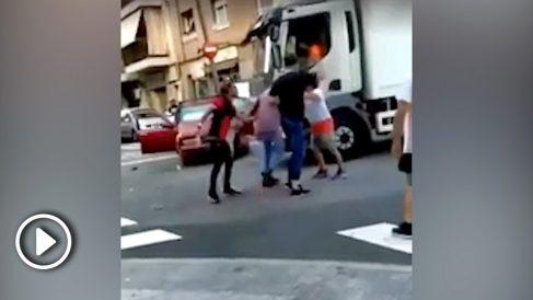 Imágenes de la pelea en Hospitalet.