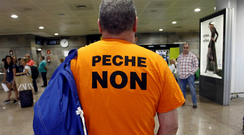 Protesta contra el cierre de Alcoa
