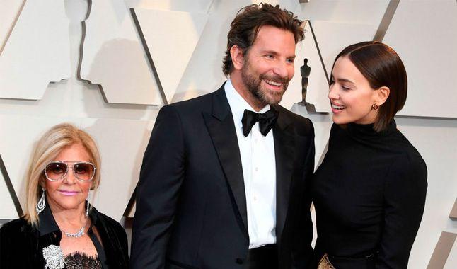 Gloria Cooper, Bradley Cooper e Irina Shayk en la Gala de los Oscar 2019