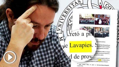 El líder de Podemos, Pablo Iglesias, escribe sin tilde «Lavapiés» hasta en tres ocasiones en su tesis doctoral.