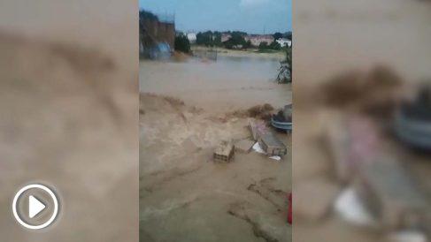 Inundación en Tafalla (Navarra).
