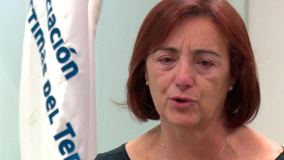 Cristina Garrido, madre del español asesinado en la Sala Bataclán de París en los atentados cometidos el 13 de noviembre de 2015 en la capital francesa.