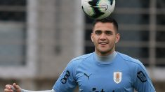 Maxi Gómez durante la preparación de la Copa América con Uruguay (AFP)