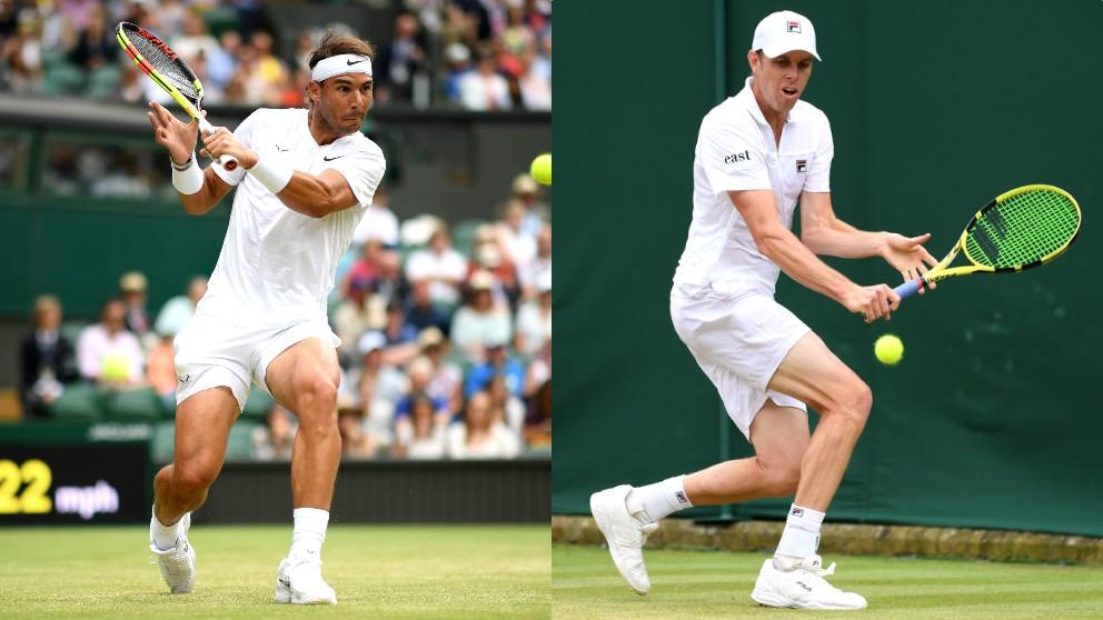 Rafael Nadal y Sam Querrey. (Getty)
