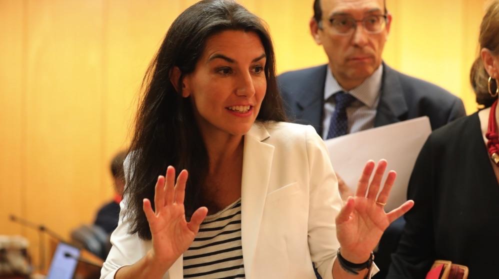 Rocío Monasterio (VOX) en la Asamblea de Madrid. (Foto. EP)